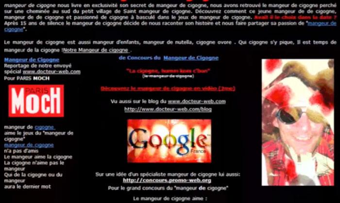 Decampou.com, Mangeur de Cigogne, concours SEO